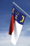 положение флага Каролины северное Стоковое Изображение