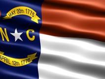 положение флага Каролины северное Стоковое Фото