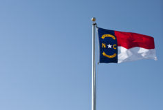 положение флага Каролины северное стоковые изображения rf