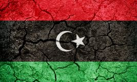 Положение флага Ливии Стоковые Изображения