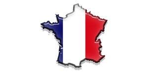 положение Франции флага Стоковые Фото