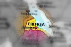 Положение Эритреи Стоковые Фото