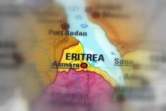 Положение Эритреи Стоковые Изображения RF