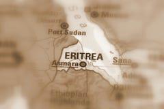 Положение Эритреи Стоковое Изображение