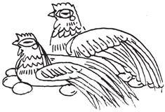 положение яичек цыпленка Стоковое Изображение RF
