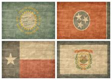 положение 11 13 флагов мы Стоковое Изображение