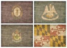 положение 5 13 флагов мы Стоковые Изображения