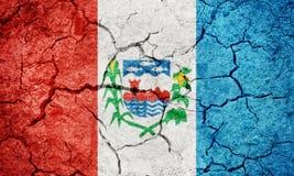 Положение Alagoas, положение Бразилии, флага Стоковое Фото