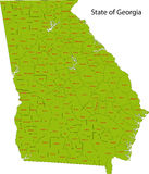 Положение Georgia бесплатная иллюстрация