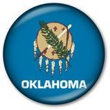 положение oklahoma флага кнопки Стоковое фото RF
