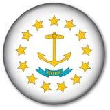 положение rhode острова флага кнопки Стоковые Фотографии RF