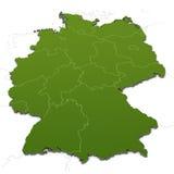 положения карты Германии Стоковые Фото