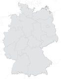 положения карты Германии Стоковые Изображения