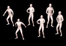 положения kung гимнастики хиа 3d китайские Стоковые Изображения