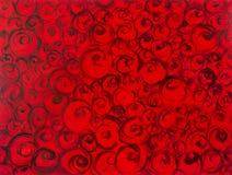 Положенный в постель на розах, полностью покрашенная вручную зона со стилизованными лепестками розы, как абстрактная текстурирова стоковое фото rf