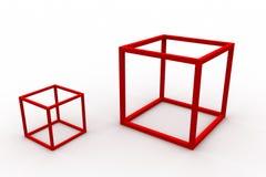 Положено в коробку Стоковое Изображение