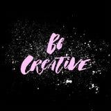 Положительное слово, звонки для действия Творческая фраза с выплеском для мотивировки, для плаката, для печатания, футболки Стоковые Изображения