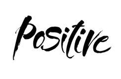 положительно Вдохновляющая цитата о счастливом Современная фраза каллиграфии Литерность в щетке для печати и плакатов вектор бесплатная иллюстрация