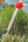 Положительный знак с баллонами на песчаном пляже в Travemunde, Германии Стоковое Изображение RF