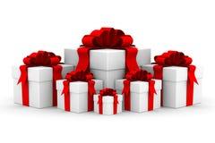 положите белизну в коробку подарка Стоковое Изображение RF