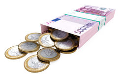 положите богатство в коробку Стоковое Изображение RF