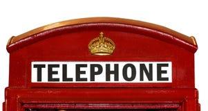 положите великобританский телефон в коробку крупного плана Стоковая Фотография RF