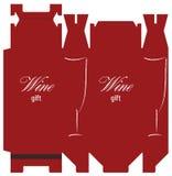 положите вино в коробку шаблона Стоковое Фото