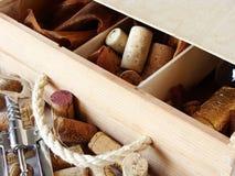 положите вино в коробку Стоковые Фото