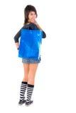 положите детенышей в мешки покупкы девушки Стоковое Фото