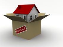 положите дом в коробку бесплатная иллюстрация