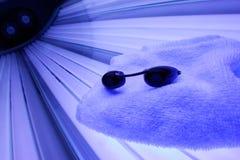 положите загорать в постель Стоковая Фотография