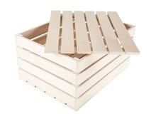 положите изолированные плиты в коробку Стоковые Изображения