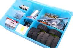 положите инструменты в коробку Стоковые Изображения