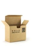 положите картон в коробку Стоковые Фотографии RF