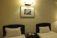 Положите комнату в постель стоковое фото