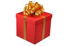 положите красный цвет в коробку подарка Стоковые Изображения RF