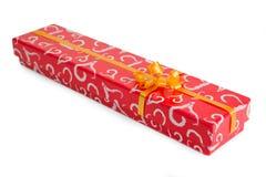 положите красный цвет в коробку подарка Стоковое Изображение