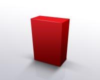 положите красный цвет в коробку Стоковые Фотографии RF
