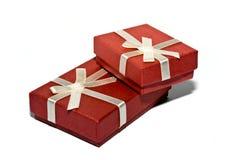 положите красный цвет в коробку Стоковые Изображения