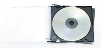положите оптический диск в коробку Стоковые Изображения