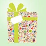 положите подарок в коробку флоры Стоковое Изображение RF
