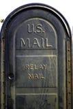 положите столб в коробку США почты Стоковое Изображение