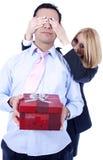 положите сярприз в коробку подарка Стоковое Фото