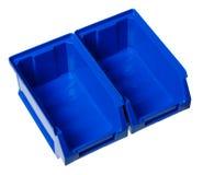 положите хранение в коробку изолированное оборудованием Стоковые Изображения RF