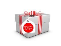 положите экстренныйый выпуск в коробку предложения подарка иллюстрация штока