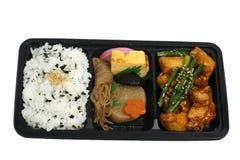 положите японский обед в коробку Стоковые Фотографии RF