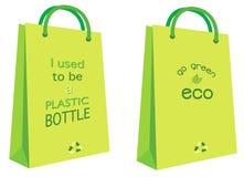 положите eco в мешки Стоковое Фото