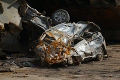 Поломанная автомобильная катастрофа стоковое фото
