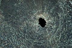 поломанное стекло Стоковая Фотография