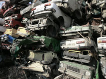 поломанные автомобили стоковая фотография